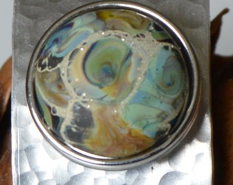 Collectable Artisan Handmade Glass Snap Charm - Interchangeable Jewellery - Snap, Popper, Chunk, Button