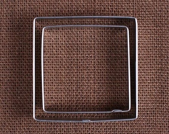 Square Cookie Cutters Set, Square Plaque Cookie Cutters, Holiday Cookie Cutters, Square Pastry Cutter, Square Biscuit Cutters
