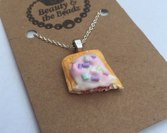 Funky Miniature realistic Poptart necklace
