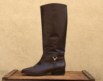 Etienne Aigner Derby Riding Boots