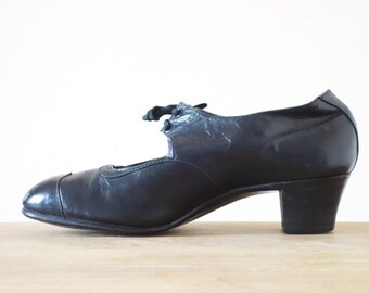 Black heels trotteurs | 1920's by Cubevintage | size 37fr