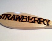 STRAWBERRY-Wooden Spoon Plant Marker
