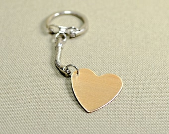 Heart Keychain in bronze for you to personalize with Messages of Love - KC229
