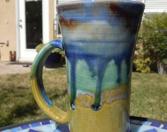 Watercolor Shore III - 12 ounce  - Tea Mug - Hot Chocolate Cup