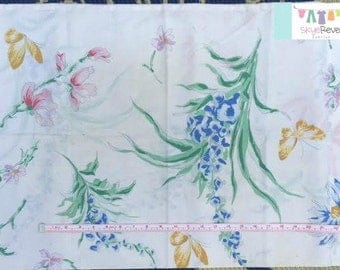 Vintage Floral Pillowcase with Butterflies
