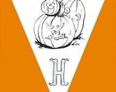 Halloween Coloring Banner