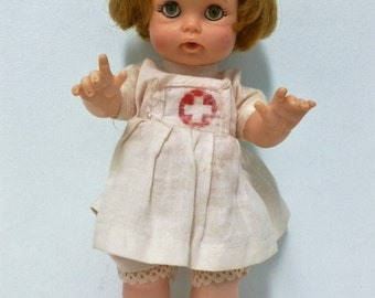 Vintage Nurse Doll Ideal Toy Corporation 1964