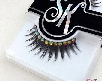 CLEARANCE Semi-Custom Rhinestone Fringe False Eyelashes  - SugarKitty Couture