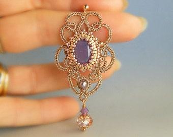 Agra , tatted earrings OOAK