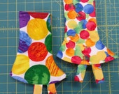 Tula Corner drool Pads, Delish Ready to Ship,  Reversible with fabric Tags.