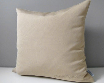 Antique Beige Outdoor Pillow Cover, Decorative Pillow Cover, Throw Pillow Cover, Sunbrella Cushion Cover Natural Beige Pillow Case Mazizmuse