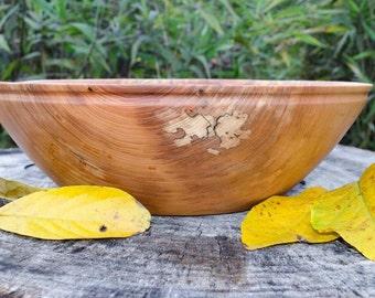 Wood Bowl Captivating  Large Red Elm, salad bowl, centerpiece,  fruit bowl, bread bowl,  hand turned