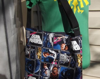 Star Wars  Slouch Bag --   Meduim Sized    Cross- Body Adjustable  Lucas
