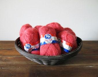 8 Skeins of Coral Lana Moro Flurri Brushed Acrylic Yarn