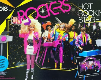 Barbie and the Rockers Hot Rockin' Stage 1985 in Box VGC / Almost Complete / Vintage Pretend Play Toy, Doll Furniture
