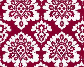 Lost and Found Love Riley Blake Fabric Dark Red and Cream Damask Medallions
