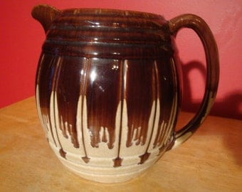 Beautiful Antique blended glaze milk pitcher