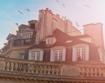 "Paris Photography // Paris Rooftops // Paris Architecture // French Decor for a modern home // Europe // Large Print  - ""Paris Rooftops"""