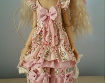 "A ""Victorian Spring"" three piece outfit for MSD bjd Kaye Wiggs Layla or similar size doll"