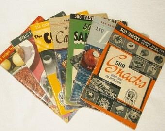 Vintage Culinary Arts Institute Cookbooks • lot of 7