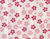Japanese Tenugui Towel Cotton Fabric, Cherry Blossom, Botanical Flower Fabric, Hand Dyed Fabric, Modern Art Wall, Home Decor, Scarf, h270