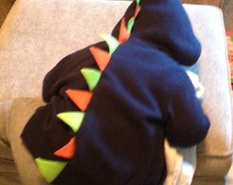 Dinosaur hoodie with felt spikes