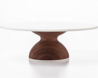 Wedding Cake Stand Modern Cake Stand 12 or 14 inch Modern Wood Cake Stand - Housewarming Gift Custom Kitchen Decor
