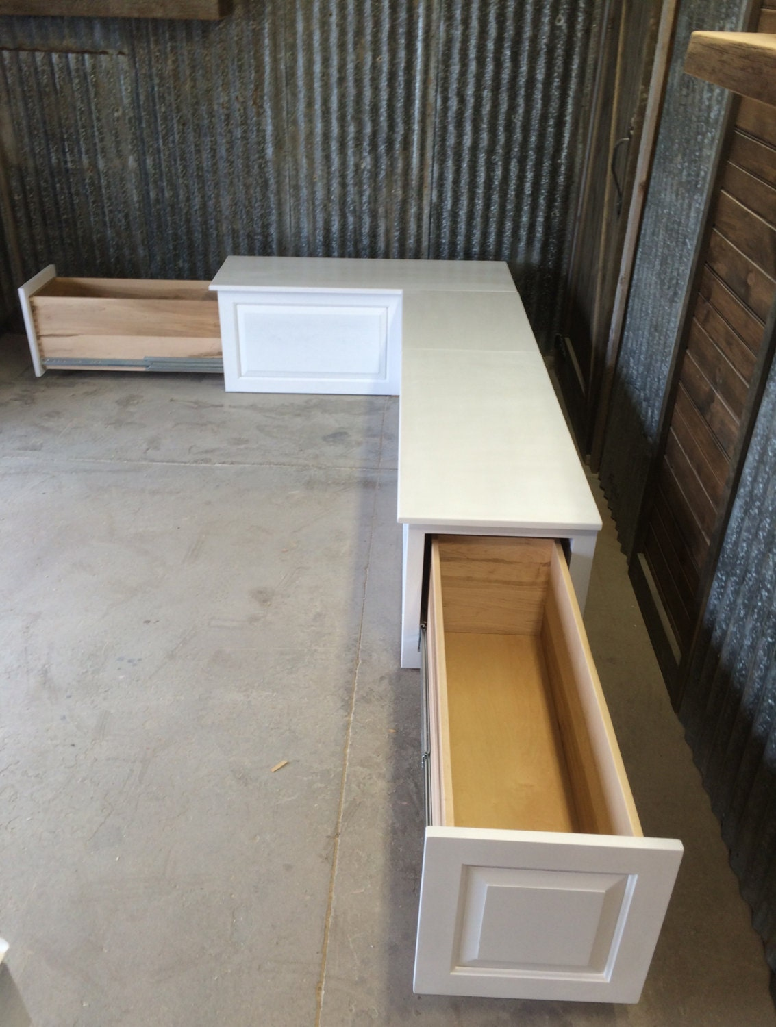 Banquette Corner Bench Seat With Storage Drawers
