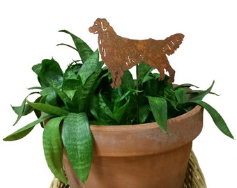 Golden Retriever Ornament or Plant Stake, Garden, Decoration, Dog, Christmas, Ornament, Metal, Art, Holiday, Tree, Memorial, Gift, Planter