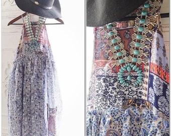 Patchwork sundress, Hippie chic woodstock sundress, 70's retro style bohemian hippie chic festival dress, Boho dress, True rebel clothing 1