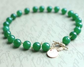Antique Look Jade Short Necklace