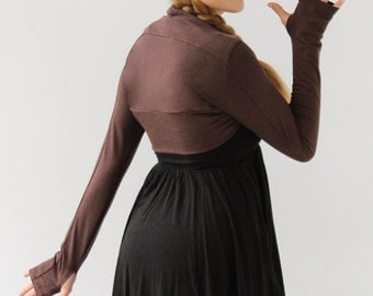 Shrug|Bolero Shrug|Long sleeve shrug with thumbholes|Ballet Shrug|Yoga shrug|Yoga clothing|Activewear
