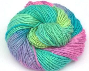 135 yards hand spun alpaca and merino wool yarn -  4.6 ounces/ 131 grams