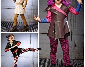 Girl Warrior's Costume Pattern, Sz 3 to 8, Simplicity Sewing Pattern 8241