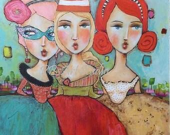 SALE Canvas Art Print- The Masquerade