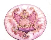 Angel art, Suncatchers, Guardian Angel, Spiritual art, Hand painted silk, Folk Ornament, bohemian decor, window image, art gift, OOAK