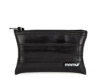 Zipper pouch made from recycled bike tube // Coin purse // Cash holder