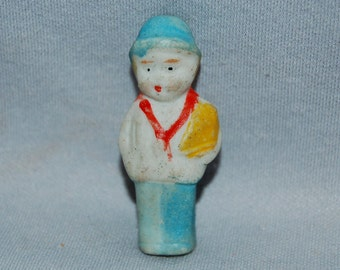 Vintage / Bisque / Doll / boy / sailboat / frozen charlotte / penny doll / vintage dolls
