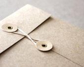 C6 String and button envelopes in brown kraft for sending, packaging, gifting and crafting - Pack of 10