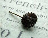 Decorative  Bobby pin, brown inked vintage sheet music