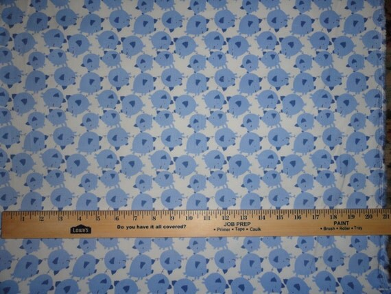 Baby piglets flannel fabric fabrics by the yard for Childrens cotton fabric by the yard