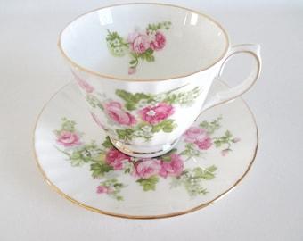 Duchess Teacup Pink Roses Cup & Saucer