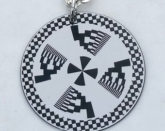 """Abstract Art Necklace with 18"""" silver chain"""