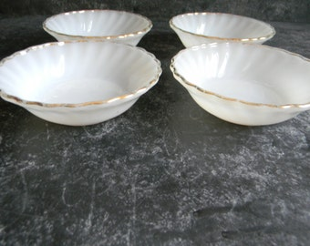 Milk Glass custard cups Bowls Thanksgiving deoration woodland