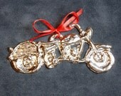 Pewter Motorcycle Ornament