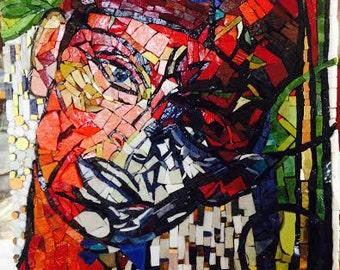 Stella Jazz ... Mosaic Art Portrait, Jazz Fest New Orleans