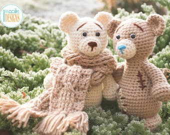 CROCHET PATTERN - Classic Mini Teddy Bear Amigurumi Crochet PDF Pattern with Instant Download