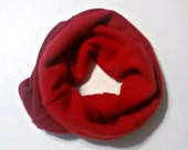 Cashmere cozy neckwarmer, tube scarf, reversible, one size, red, womens, mens