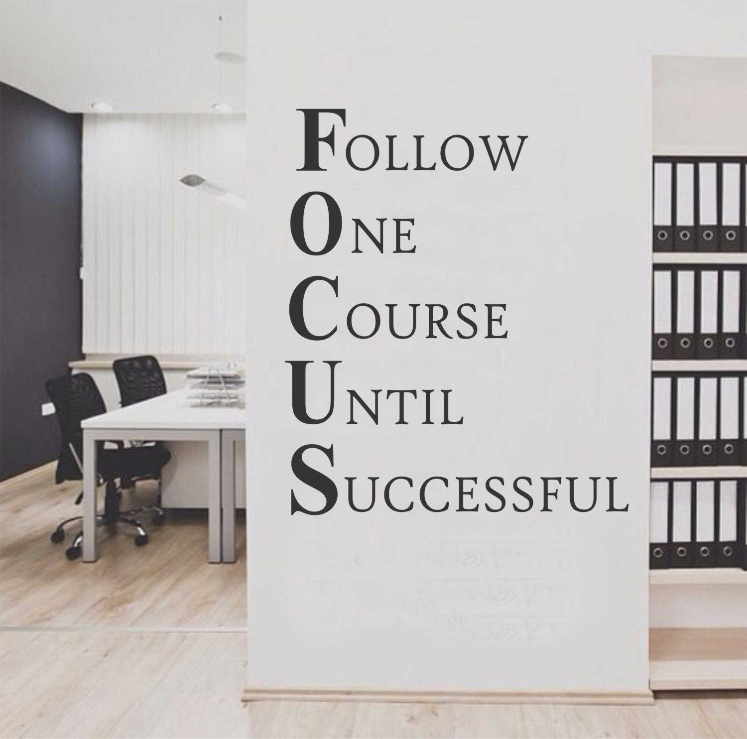 Focus Workplace Definition Vinyl Wall Lettering Vinyl Wall - Custom vinyl lettering wall decals