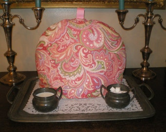 Tea Cozy, Insulator, Warmer, English Style, Paisley pink